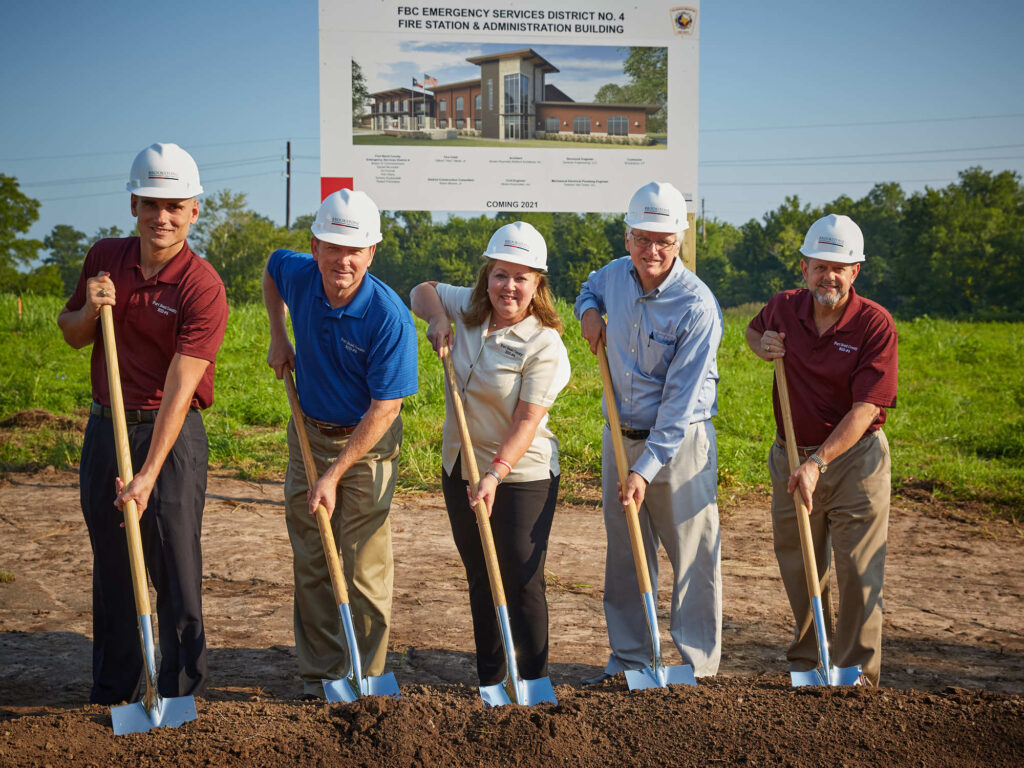 ESD Board Commissioners Break Ground on New Fire Station and Administration Facility